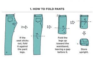 marie kondo fold pants