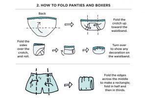 marie kondo underwear folding